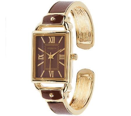 Liz Claiborne New York Bangle Watch with Tonal Dial