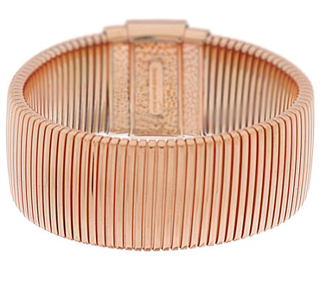 """As Is"" Bronze Avg. Polished Tubogas Bracelet by Bronzo Italia"