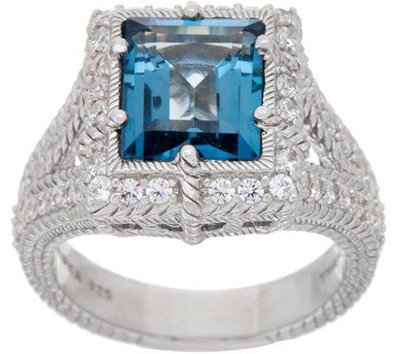 Judith Ripka Sterling 2.80 ct London Blue Topaz Ring