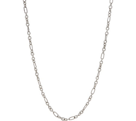 "Carolyn Pollack Signature Sterling Silver 24"" Chain Necklace 9.0g"