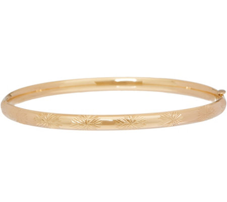 "EternaGold 7"" Bangle Bracelet 14K Gold, 3.9g"