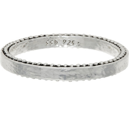 Simon Sebbag Sterling Silver Hammered Bangle
