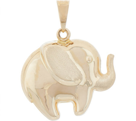 Italian gold elephant pendant 14k gold page 1 qvc italian gold elephant pendant 14k gold aloadofball Image collections