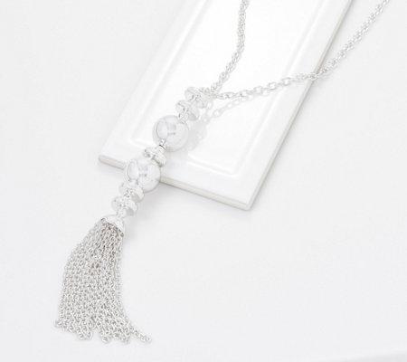 Joan Rivers Metallic Glamour 30 Double Ball Tassel Necklace