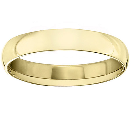 Men's 14K Yellow Gold 4mm Polished Comfort FitWedding Band