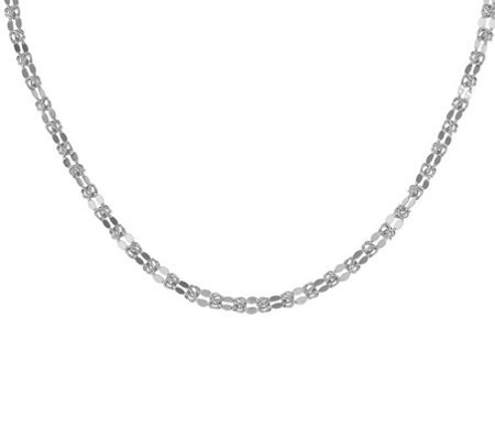 Italian Silver Byzantine Mirror Link Necklace Sterling, 10.1g