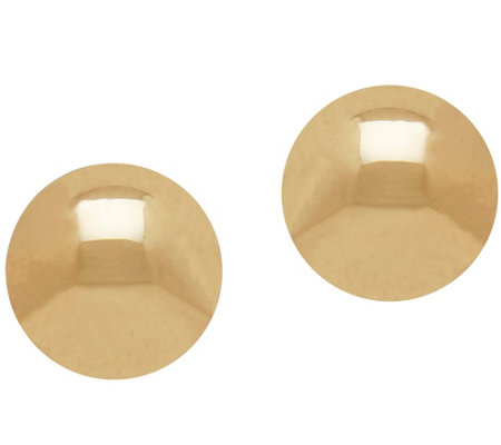 EternaGold 8mm Polished Ball Stud Earrings, 14KGold