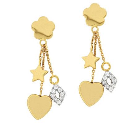 Affinity 14k 1 5 Cttw Diamond Motif Charm Dangle Earrings