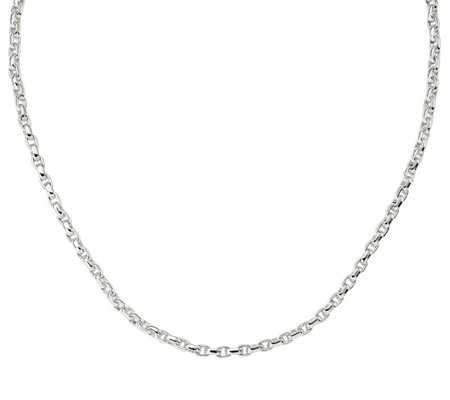 Sterling 20 Oval Rolo Link Necklace 41 7g