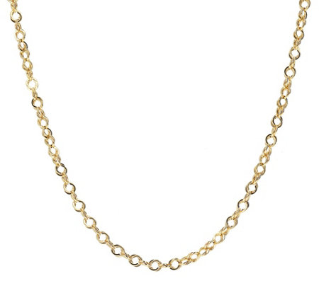 "Italian Gold Polished Double Link 24"" Chain, 14K 4.7g"
