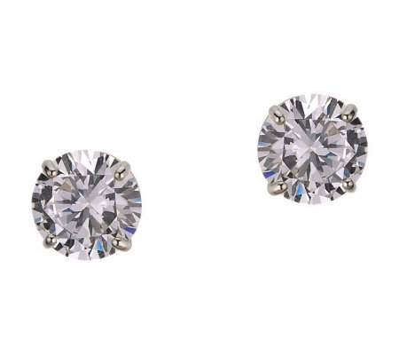 Diamonique 4.00 ct tw Round Stud Earrings, 14KGold