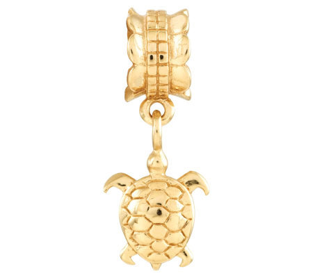 Prerogatives 14K Yellow Gold-Plated Sterling Turtle Bead