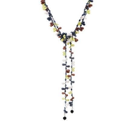 Attitudes by Renee Adjustable Candy Lariat Necklace