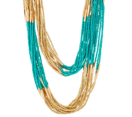 Linea By Louis Dell Olio Multi Strand Long Bead Necklace
