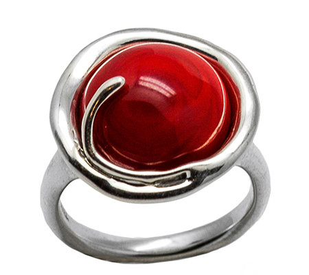 Kalos by Hagit Sterling Pomegranate Glass Ring