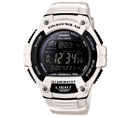 Casio Men's White Tough Solar Illuminator SportWatch
