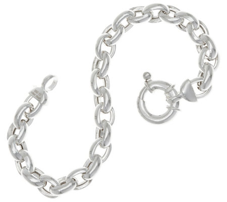 "UltraFine Silver 7-1/4"" Polished Rolo Link Bracelet 14.9g"