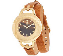 RLM Stainless Steel and Gemstone Leather Wrap Watch - J350289