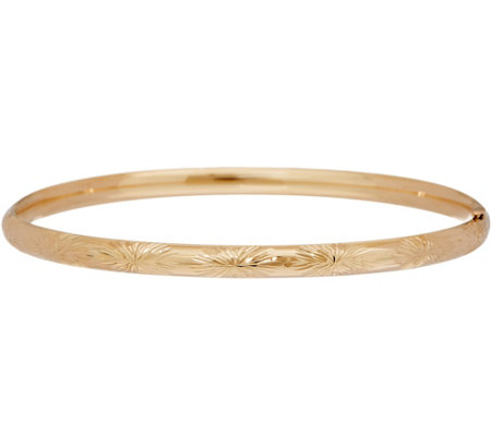 "EternaGold 7-1/2"" Bangle Bracelet 14K Gold, 4.2g"