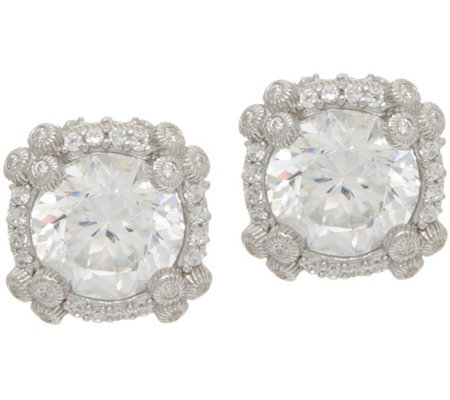Judith Ripka Sterling 4.60 cttw Diamonique Stud Earrings
