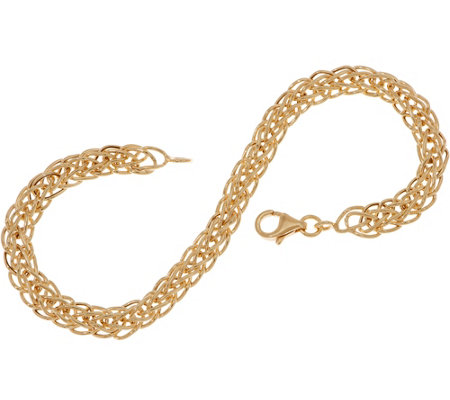 """As Is"" 14K Gold 6-3/4"" Wheat Chain Bracelet, 2.1g"