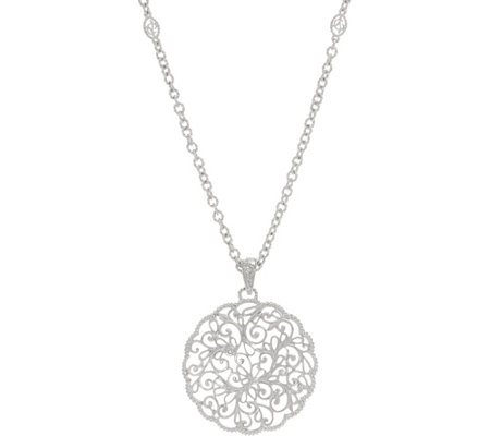 DeLatori Sterling Silver Lattice_Pendant with Chain