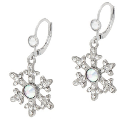 Kirks Folly Crystal Snow Queen Seaview Moon Earrings