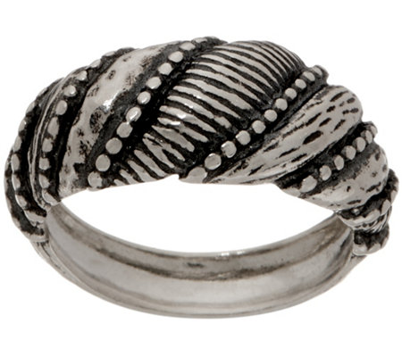 Or Paz Sterling Silver Textured Shrimp Design Ring