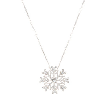 Mickey's 90th Birthday Snowflake Pendant with Chain