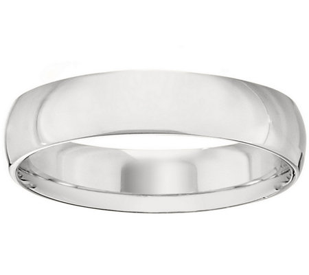 Men's 14K White Gold 5mm Half Round Wedding Band