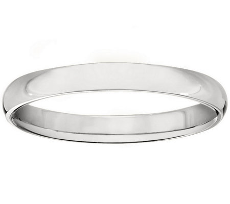 Women's Platinum 3mm Half Round Wedding Band