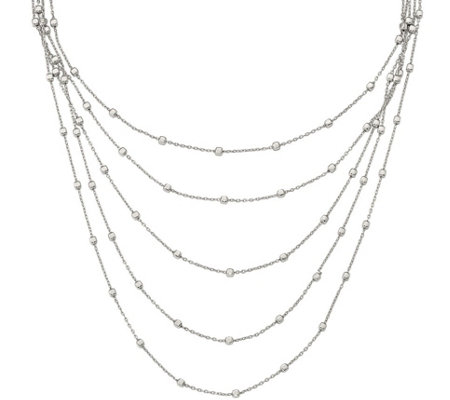 "Sterling Layered 16"" Necklace, 16.9g by S ilverStyle"