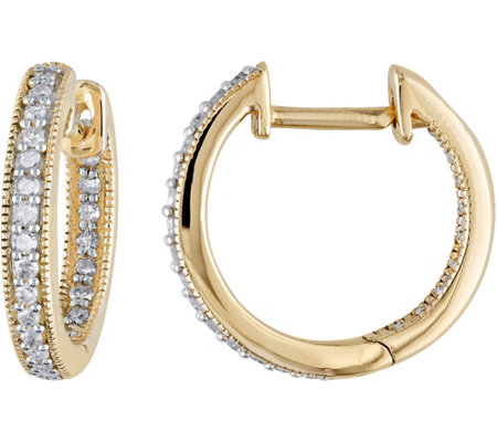Diamond Hoop Earrings, 14K, 1/5 cttw, by Affinity