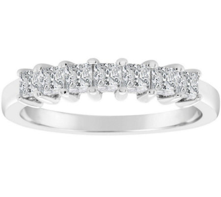 Affinity 2 3 Cttw 7 Stone Princess Cut Diamondband Ring 14k