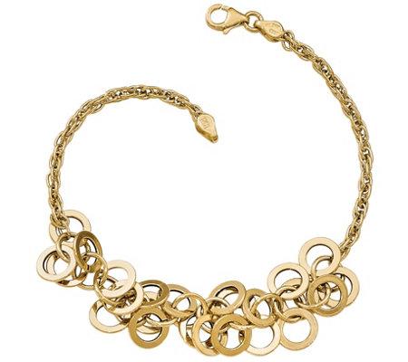 Italian Gold 14k Fringe Bracelet Qvc