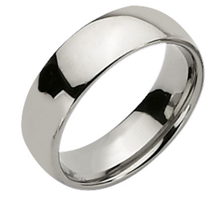 Titanium 7mm Polished Ring