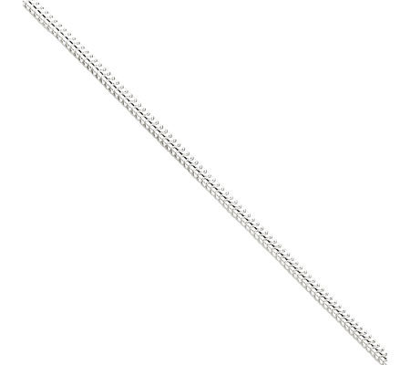 Sterling Round Snake Chain Anklet