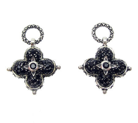 Barbara Bixby Sterling Black Sapphire Earring Drops