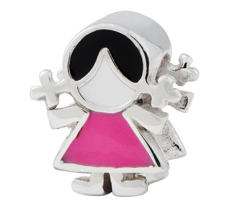 Prerogatives Sterling Pink Dress Girl Bead