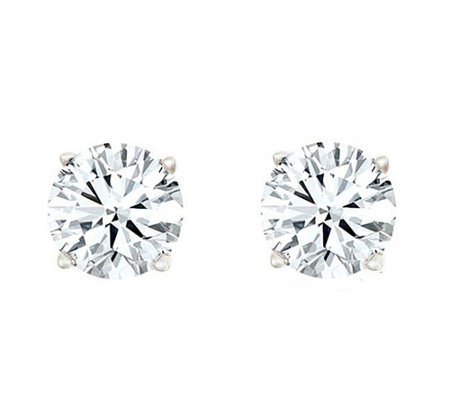 Round Diamond Stud Earrings, 14K, 1/10cttw by Affinity