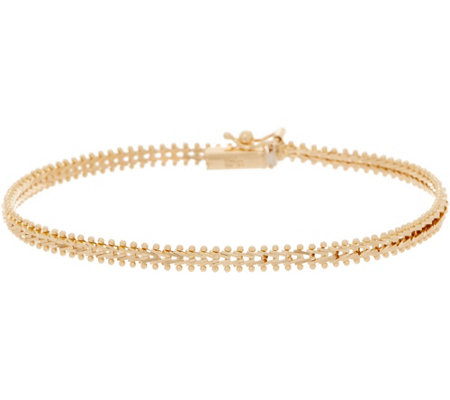 Imperial Gold 7 1 4 Wheat Bracelet 14k 6 0g Qvc