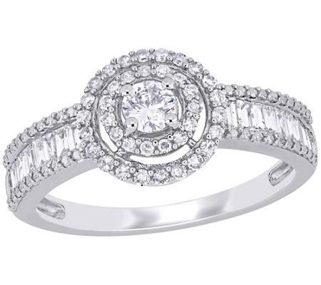 Affinity 7 10 Cttw Diamond Halo Engagement Ring 14k