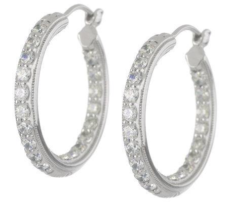 Tacori Epiphany Diamonique Inside Out Hoop Earrings