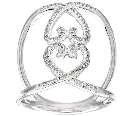 Lace Design Diamond Ring, Sterling, 1/5 cttw, by Affinity