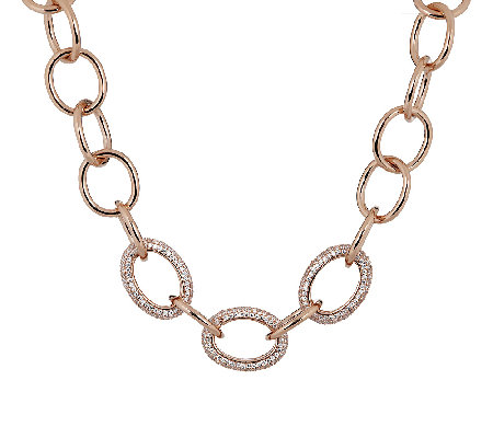 Bronze Adjustable Pave' Crystal Necklace by Bronzo Italia