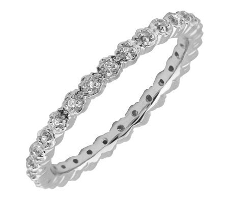 Simply Stacks Sterling & Diamonds 2.25mm Eternity Ring