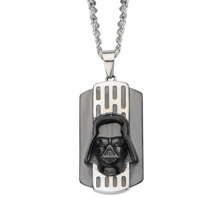 Star Wars Stainless 3D Darth Vader Dog Tag withChain