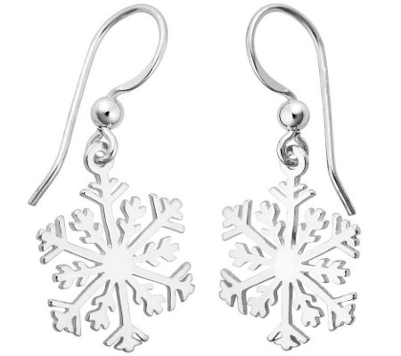 Sterling Silver Snowflake Earrings Qvc