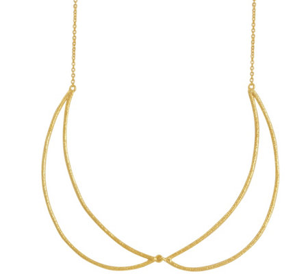 "Sterling Crescent 18"" Necklace by Silver Style"