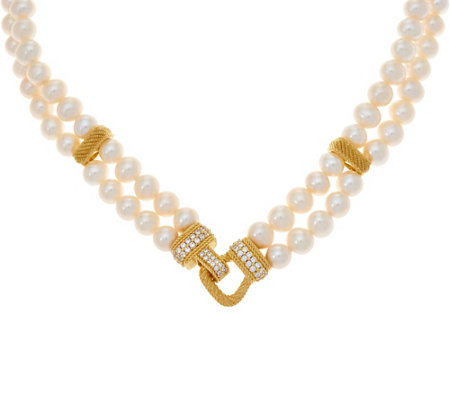 Judith Ripka 14K Clad Cultured Freshwater Pearl Necklace